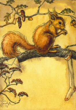 CSS - Squirrel w/Stocking