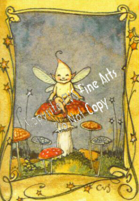 CTF - Tiny Fairy on mushroom