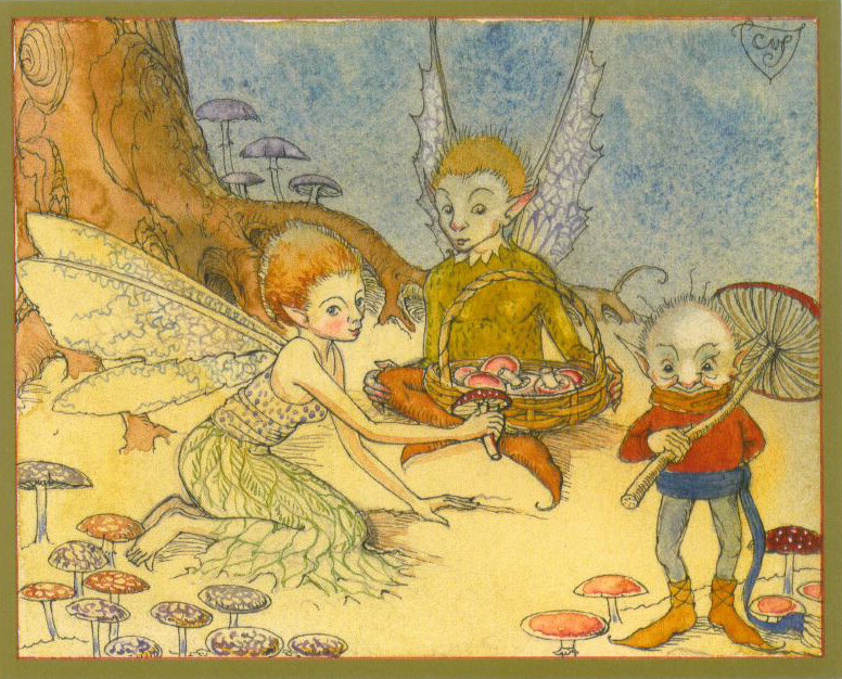 MPT - Fairies Picking Toad Stools